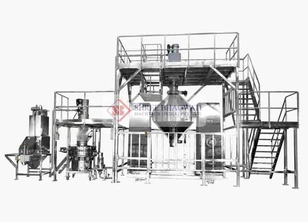 Double Cone Blender with sifter and Loading Platform